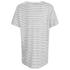 Gestuz Women's Marie Striped V-Neck Linen T-Shirt - Off White/Black: Image 2