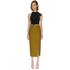 C/MEO COLLECTIVE Women's Perfect Lie Pencil Skirt - Khaki: Image 2