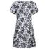 MICHAEL MICHAEL KORS Women's Gemma Silk Textured Print Dress - New Navy: Image 1