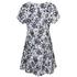 MICHAEL MICHAEL KORS Women's Gemma Silk Textured Print Dress - New Navy: Image 2