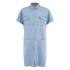 Carhartt Women's Corry Short Sleeved Denim Shirt Dress - Blue Super Bleach: Image 1