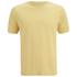 Folk Men's Plain Crew Neck T-Shirt - Washed Out Amber: Image 1