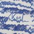 Karl Lagerfeld Women's Fringe Squiggle Sweatshirt - Blue: Image 3