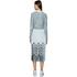 Designers Remix Women's Tilt Graphic Pleated Skirt - Black/White: Image 3