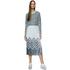 Designers Remix Women's Tilt Graphic Pleated Skirt - Black/White: Image 2