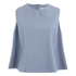 Maison Kitsuné Women's Holly Chambray Flared Top - Chambray: Image 1