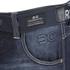 Crosshatch Men's New Embossed Techno Straight Fit Jeans - Dark Wash: Image 3