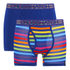 Crosshatch Men's Refracto 2-Pack Boxers - Multi/Sapphire: Image 1