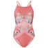 MINKPINK Women's Bloomin Beach Cross Over Low Back One Piece Swim Suit - Pink: Image 1