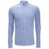 Scotch & Soda Men's Pique Long Sleeved Shirt - Blue: Image 1