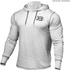 Better Bodies Men's Long Sleeve Cover Up Hoody - White Melange: Image 1