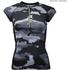 Better Bodies Women's Zipped T-Shirt - Grey Camo: Image 1