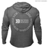 Better Bodies Men's Long Sleeve Cover Up Hoody - Anthracite Melange: Image 2