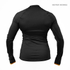 Better Bodies Women's Zipped Long Sleeve Top - Black/Orange: Image 2