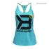 Better Bodies Women's Twisted T-Back Tank Top - Aqua Blue: Image 1