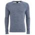 Scotch & Soda Men's Melange Crew Neck Sweatshirt - Navy Melange: Image 1