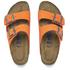 Birkenstock Women's Arizona Slim Fit Suede Double Strap Sandals - Orange: Image 2