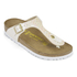 Birkenstock Women's Gizeh Shiny Snake Toe-Post Sandals - Cream: Image 3