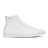 Converse Unisex Chuck Taylor All Star Leather Hi-Top Trainers - White Monochrome: Image 1