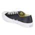 Converse Jack Purcell Unisex Leather Trainers - Black/White: Image 4
