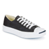 Converse Jack Purcell Unisex Leather Trainers - Black/White: Image 2