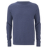 Threadbare Men's Tallin Raglan Crew Neck Jumper - Denim Marl: Image 1