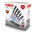 Tower T80703 5 Piece Knife Block with Acrylic Stand - Black: Image 7