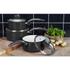 Swan SWPS3020BN Retro 3 Piece Aluminium Saucepan Set - Black: Image 2