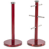 Morphy Richards 974029 Mug Tree & Towel Pole Set - Red: Image 1