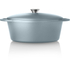 Tower IDT90003 Cast Iron Oval Casserole Dish - Blue - 29cm: Image 4