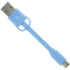 Kit USB to Micro USB Keyring Data & Charge Cable - Blue: Image 1