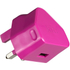 Kit USB 2.1A Eco Mains Charger - Pink: Image 1