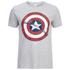 Marvel Men's Captain America Shield T-Shirt - Grey Marl: Image 1