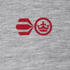 Crosshatch Men's Atlantic Back Print T-Shirt - Grey Marl: Image 3