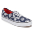 Vans Unisex Authentic Washed Kelp Trainers - Navy/White: Image 2