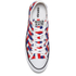 Converse Men's Chuck Taylor All Star Woven Canvas OX Trainers - White/Clematis Blue/Red: Image 3