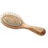 Hydrea London Olive Wood Handbag Size Anti Static Hair Brush: Image 1