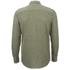 Selected Homme Men's None Trent Solid Long Sleeve Shirt - Olive Night Melange: Image 2