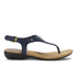 Lauren Ralph Lauren Women's Kally Leather Sandals - Modern Navy: Image 1