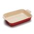 Le Creuset Stoneware Large Heritage Rectangular Roasting Dish - Cerise: Image 1