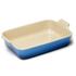 Le Creuset Stoneware Large Heritage Rectangular Roasting Dish - Marseille Blue: Image 1