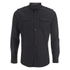 Brave Soul Men's Charlie Pocket Long Sleeve Shirt - Black: Image 1