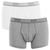 Puma Men's 2 Pack Basic Trunks - White/Grey: Image 1