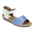 Clarks Women's Tustin Sinitta Leather Double Strap Sandals - Blue Combi: Image 4