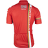 Lotto Soudal Short Sleeve Long Zip Jersey 2016 - Red/White: Image 3