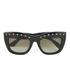 Valentino Women's Rockstud Square Frame Sunglasses - Black: Image 1