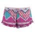 MINKPINK Women's Goodnight Darling Ruffle Edge Shorts - Multi: Image 1