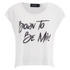 MINKPINK Women's Born To Be Mild T-Shirt - Off White: Image 1