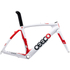 Ceepo Venom Time Trial Frameset - White/Red: Image 1