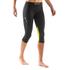 Skins DNAmic Women's Capri Tights - Black/Limoncello: Image 5